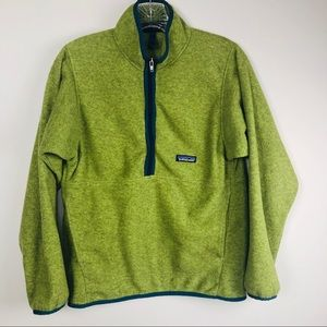 Patagonia synchilla 1/2 zip green XS pullover